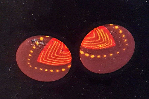 The Chenille African Print Button Earrings