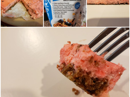 DIY: Low carb strawberry cheesecake