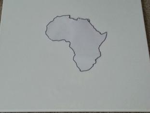 DIY Africa on canvas