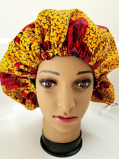 Chase (Adult) African Print Satin Hair Bonnet