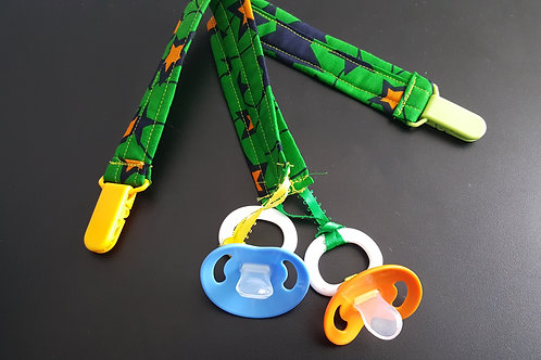 The Capella African Print Pacifier/Soothie Clip