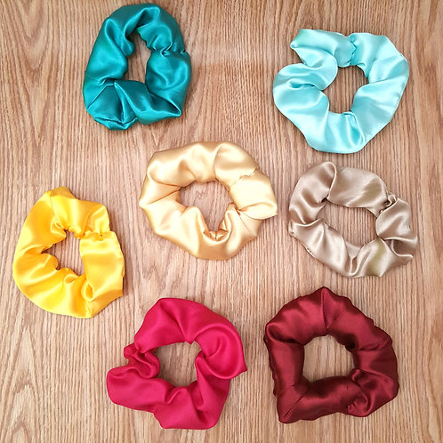 Pair of Satin hair scrunchie