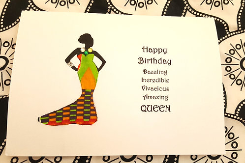 Diva Queen - African Print Birthday Card