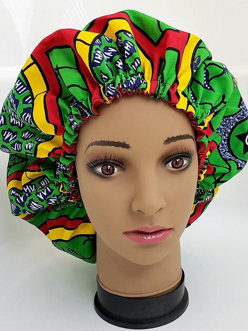 Shalewa Bonnet African Print Reversible Bonnet (Adult)