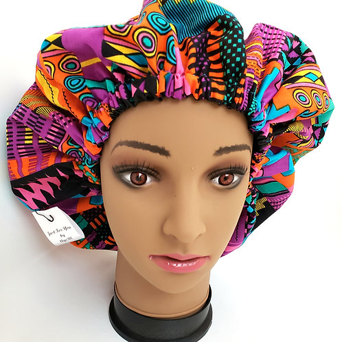 Ife (Adult) African Print Satin Bonnet