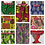 Thumbnail: PAG Everest African Print Doll Skirt and matching headband