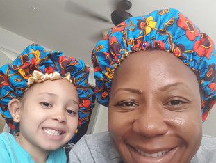 Triple Cs - African print satin lined hair bonnet