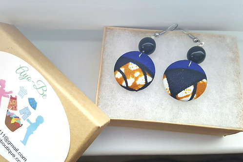 The Lucinda African Print Button Earrings