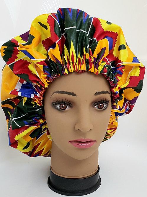 Lade Bonnet African Print Reversible Bonnet (Adult)