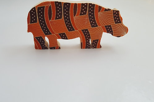 African Print Hippo Nursery Room Decor