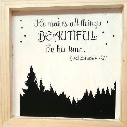 Bible verse wall art wood sign