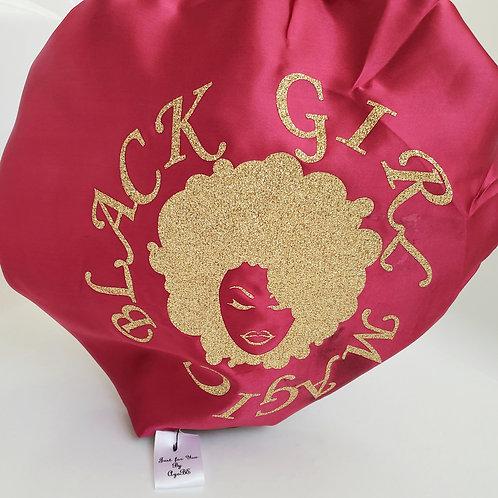 Black Girl Magic Adult Satin Bonnet