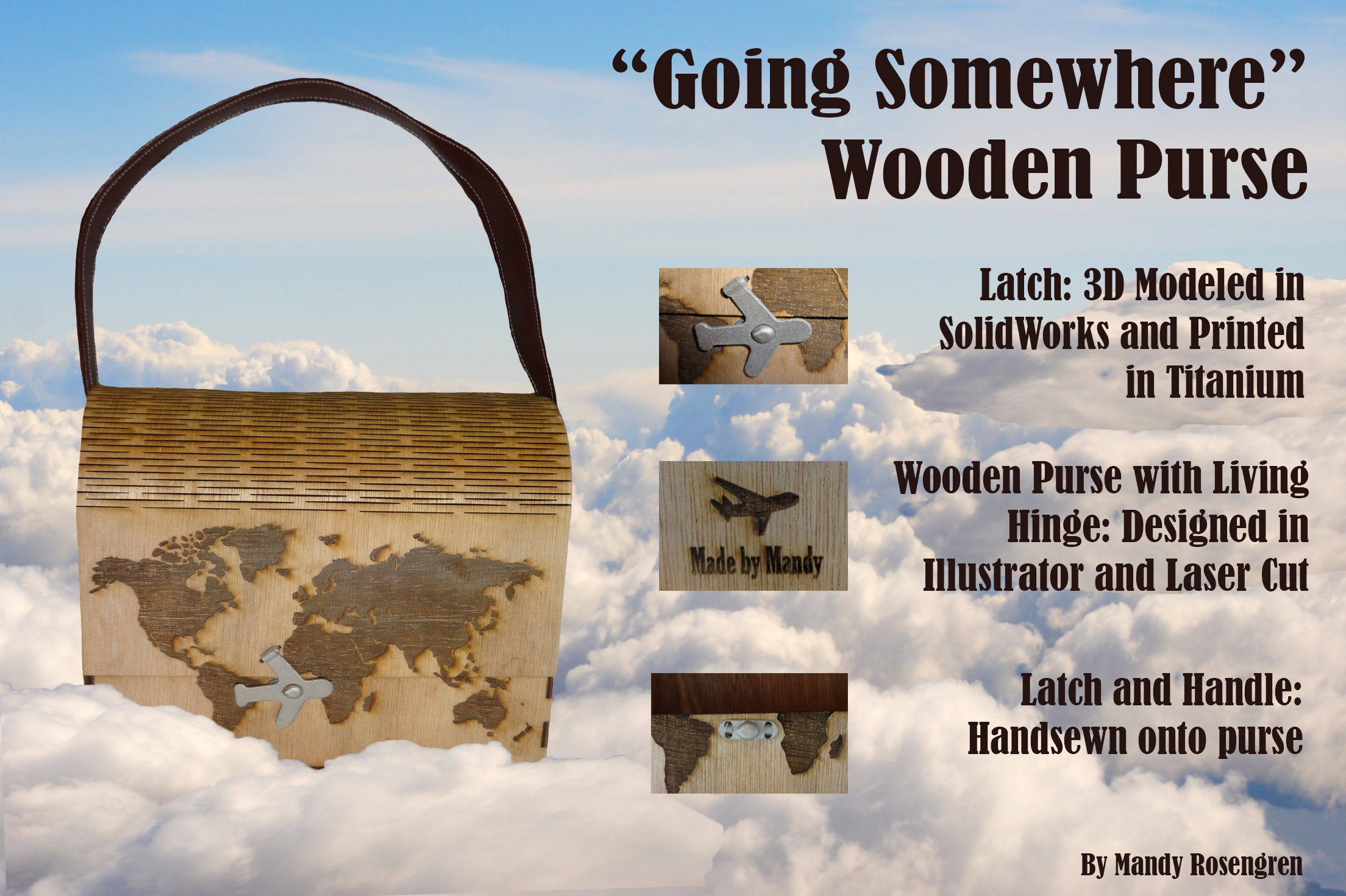 Living Hinge Wooden Purse
