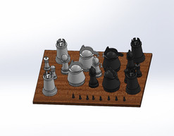 Chess Board Brunch Set