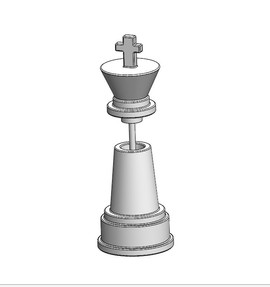 Chess King Salt Shaker
