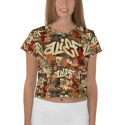 All-Over Print / Alief Boss Design / Crop Tee Womens