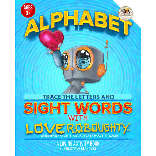 Alphabet Trace the Letters and Site Words with Love Roboughty: On The Go: Presch