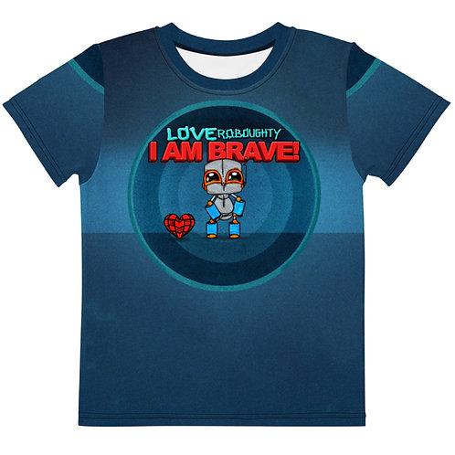 """I AM BRAVE"" All-Over Print / Kids t-shirt"