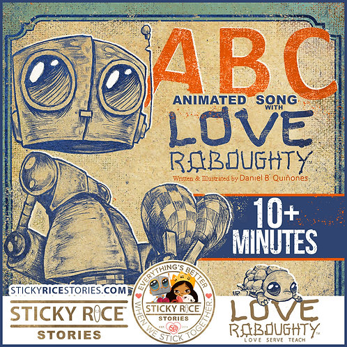 ABCs with Love Roboughty | Animated Song