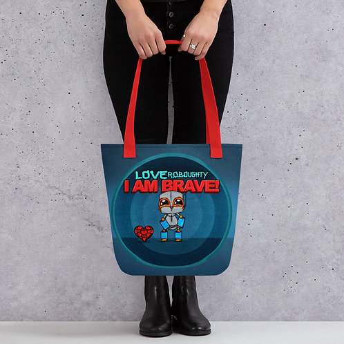 """""""I AM BRAVE"""" All-Over Print / Tote bag"""