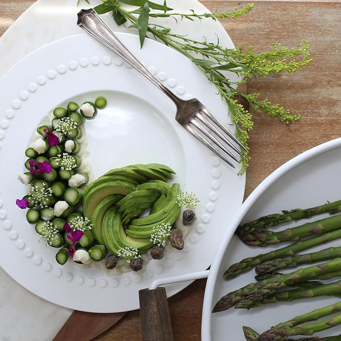 Asparagus and Mashed Cauliflower