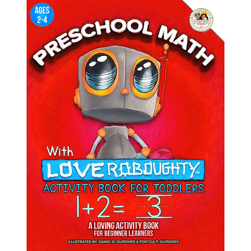 Preschool Math with Love Roboughty: Activity Book for Toddlers: A Loving Activit