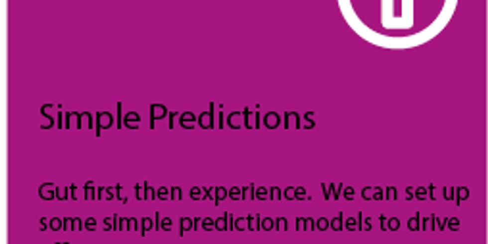 Knowledge Blast #3: Simple Predictions