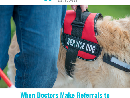 When Doctors Make Referrals to Assistance Animals Consulting