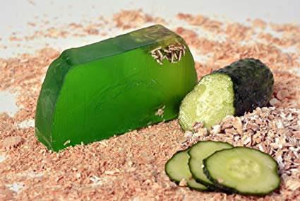 Handgemaakte zeep met komkommer