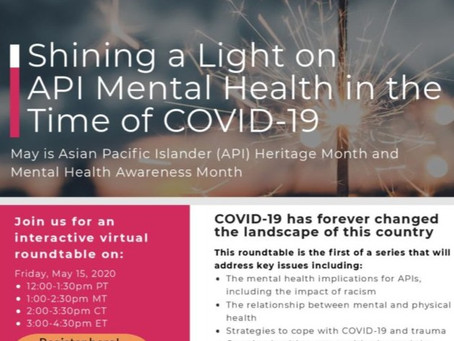 Shining a Light on API Mental Health in the Time of COVID-19