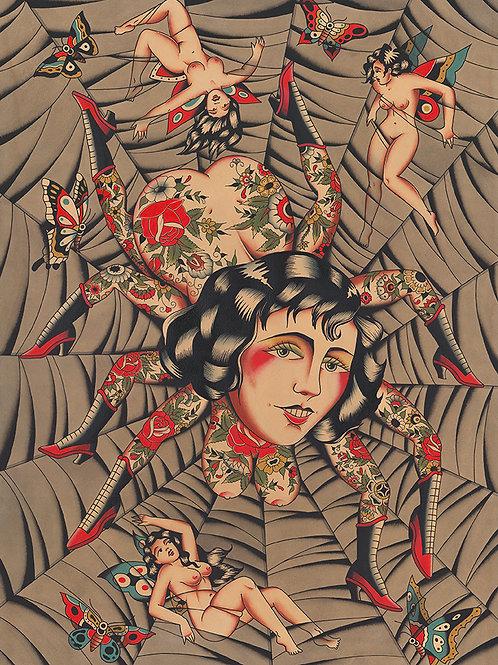 """""""Butterflies Beware"""" 20x28 Giclee print"""