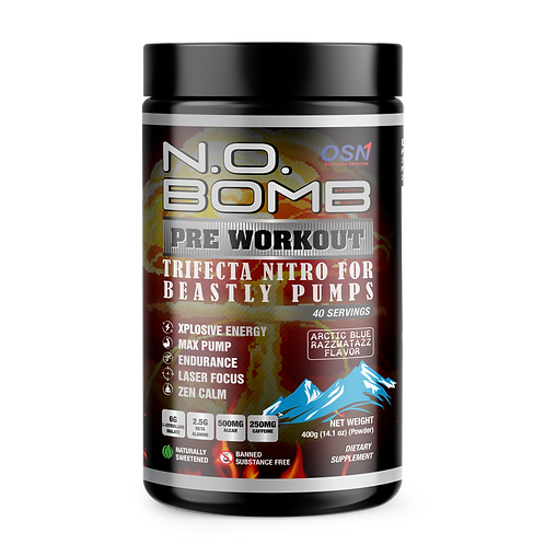 NO BOMB PRE WORKOUT | ARCTIC BLUE