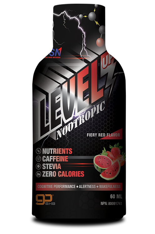 Level Up Nootropic Energy Shot 60 ml Fiery Red Flavor