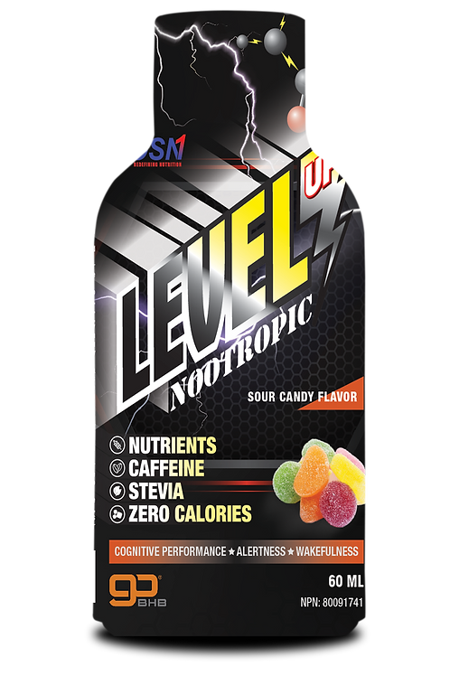 LEVEL UP | NOOTROPIC ENERGY SHOT | SOUR CANDY FLAVOUR