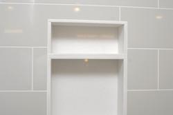 tile shower niche soap dish
