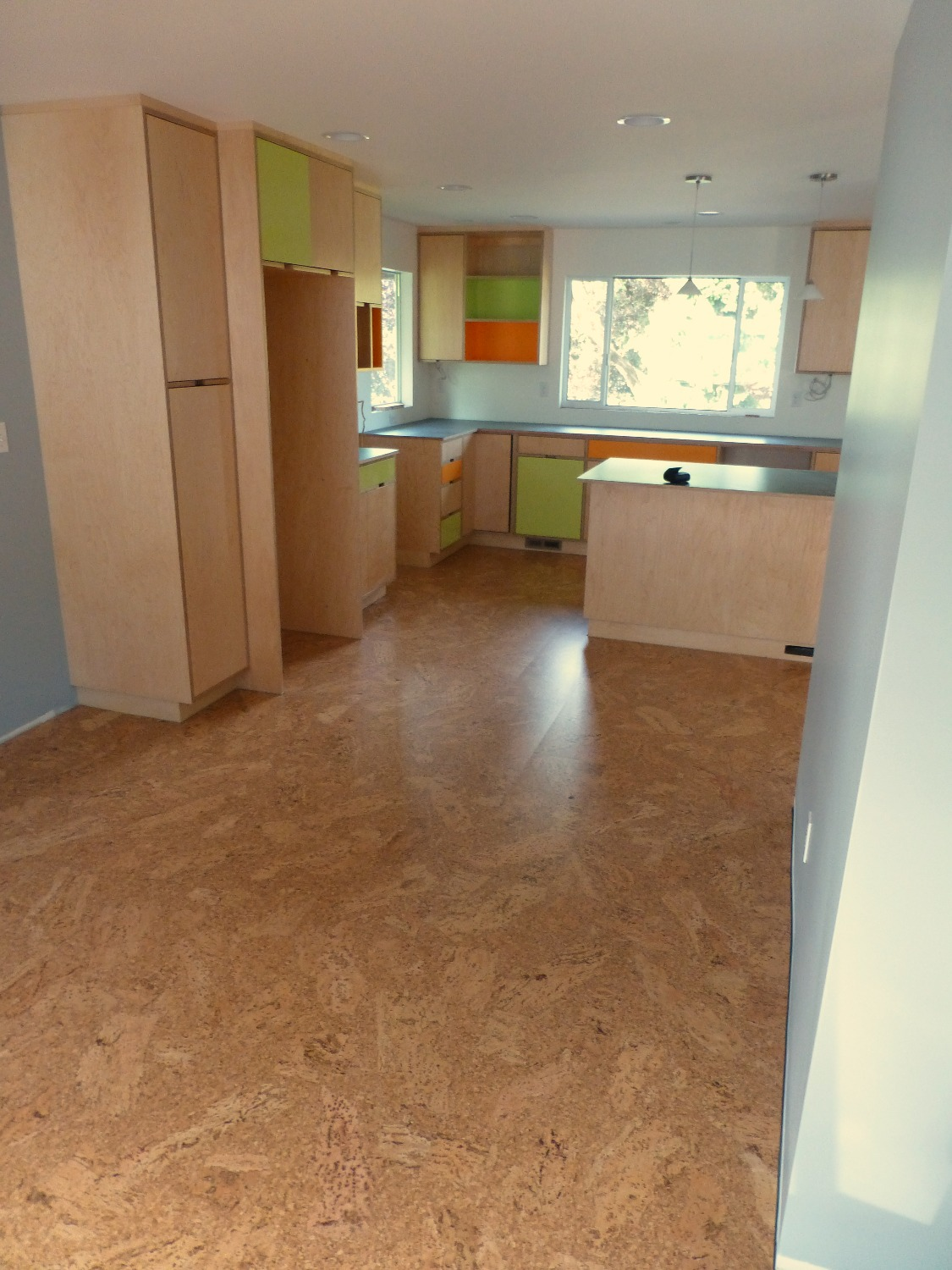 cork floor kitchen seattle
