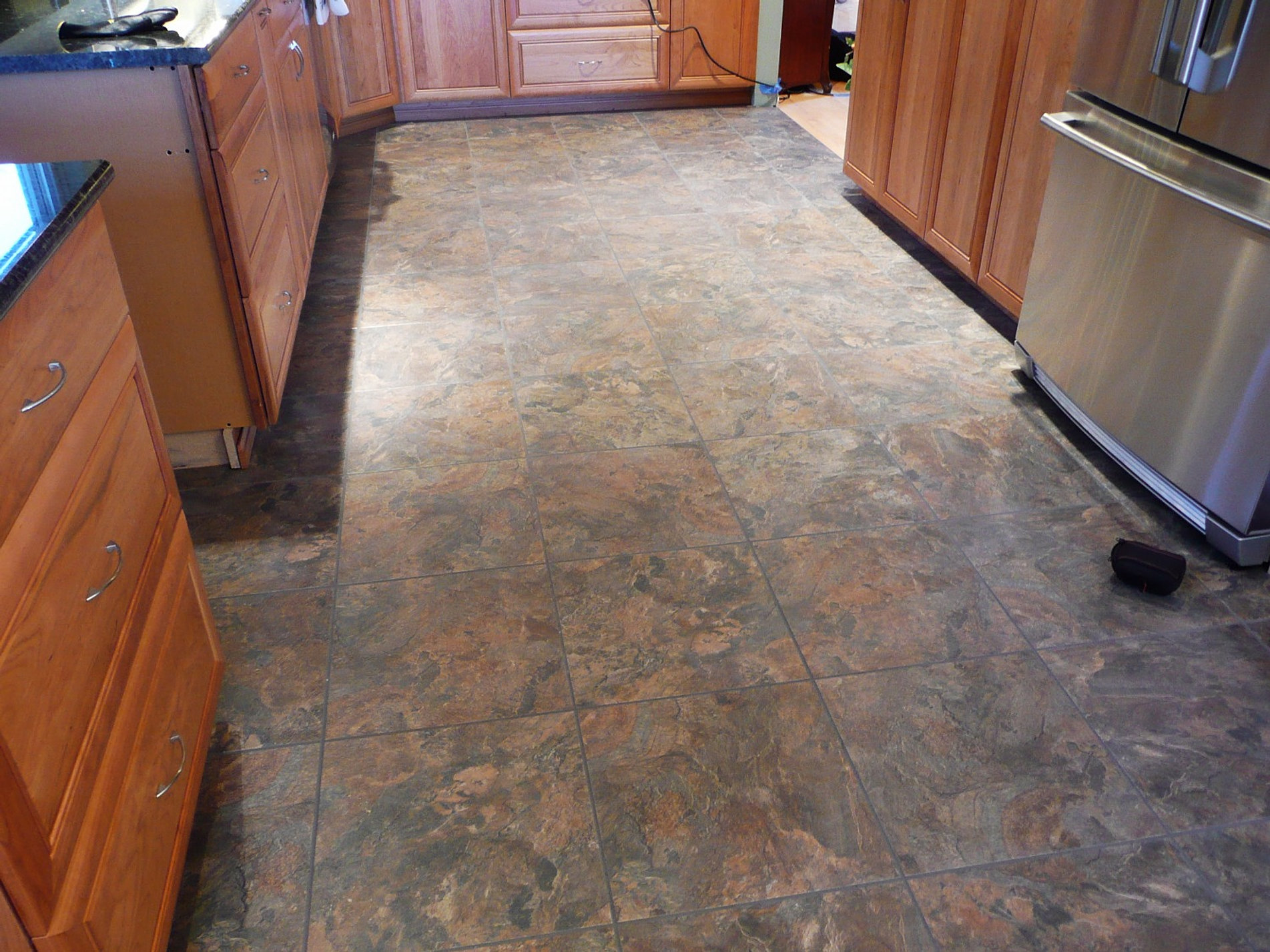 Vinyl Tile Kitchen Flooring Vinyl Tile Plank Install Seattle Lvt Lvp