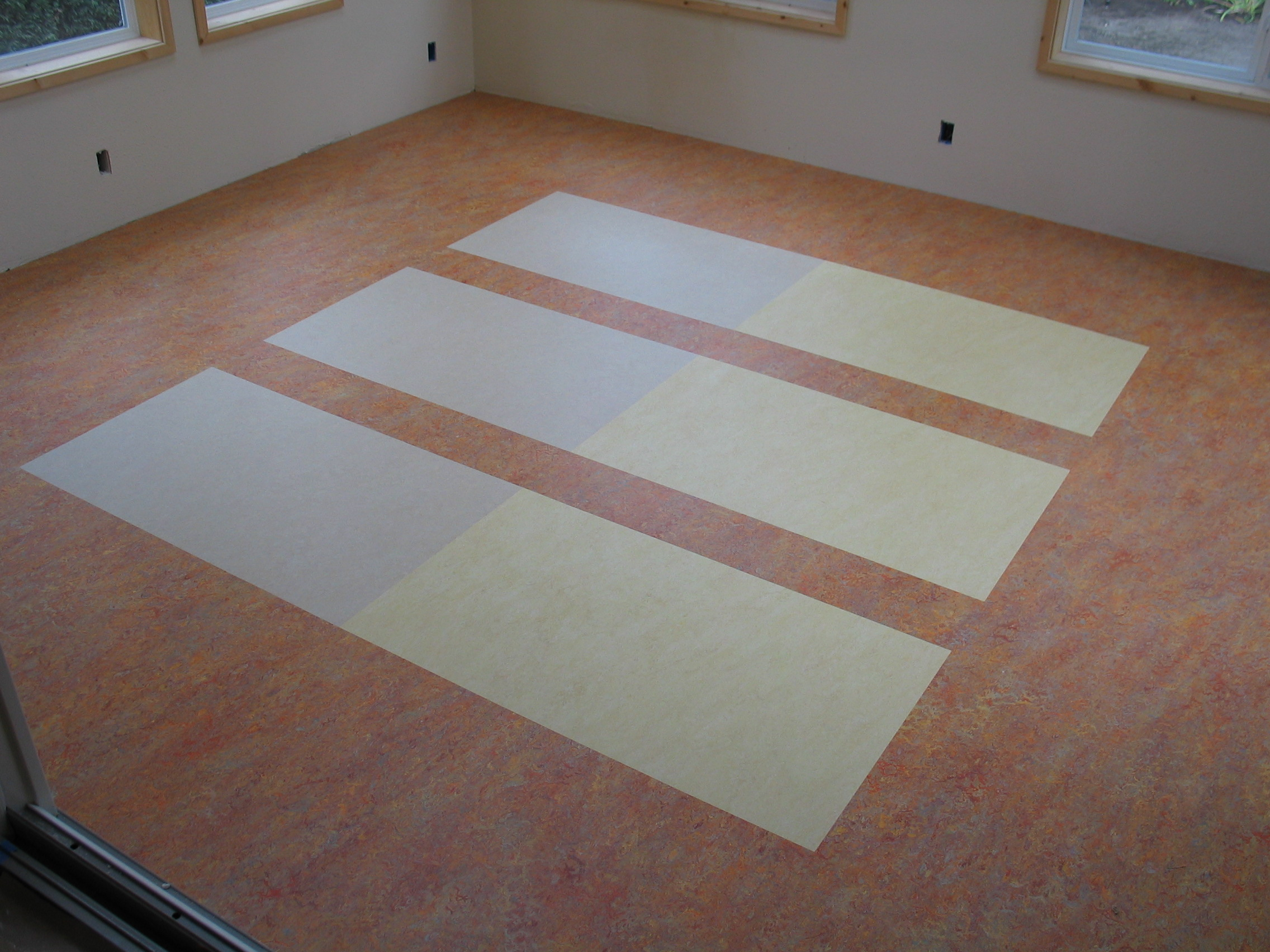 Custom Marmoleum floor sheet