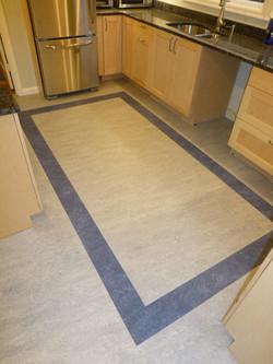 Marmoleum kitchen accent inlay
