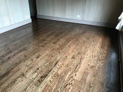 Dark stain hardwood refinish