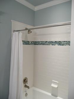 tile shower surround glass accent