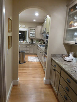oak hardwood refinish kitchen