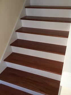 hardwood stairs cherry treads