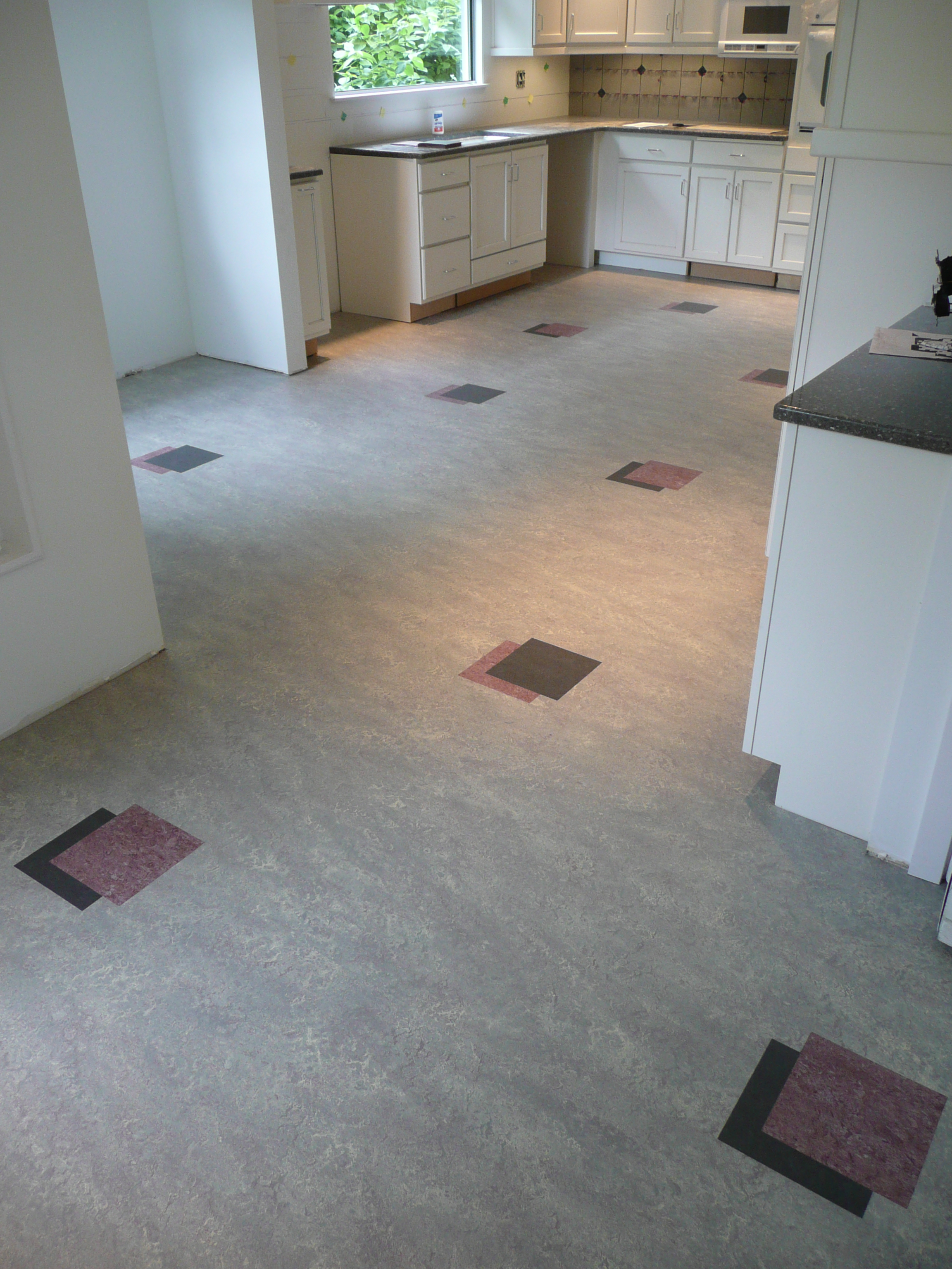 Marmoleum kitchen custom install
