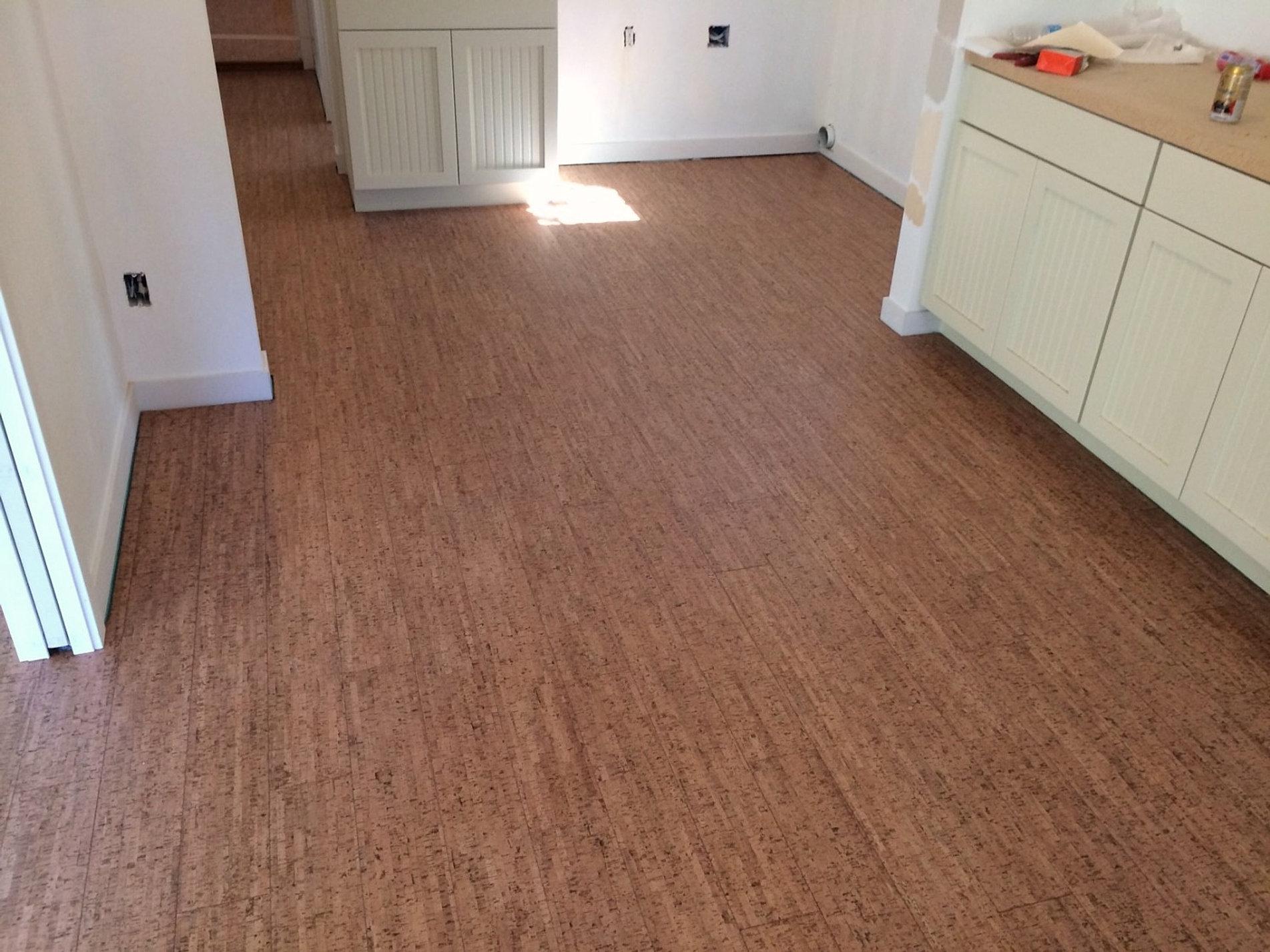 cork laminate flooring for kitchen cork floor kitchen install seattle