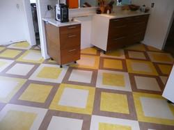 marmoleum floor kitchen custom tile
