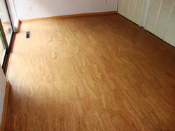 cork floor install