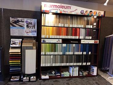 Marmoleum Flooring Displays Seattle Showroom