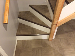 Flexitec IVC vinyl on stairs