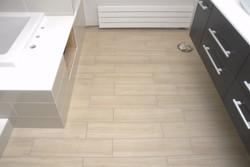 tile floor and bath surround planks